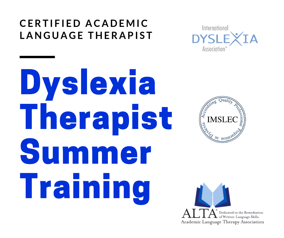 Dyslexia Therapist Training | The Written Word Center for Dyslexia and Learning