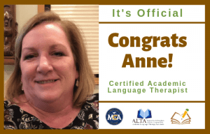 Anne | CALT | The Written Word Center for Dyslexia and Learning