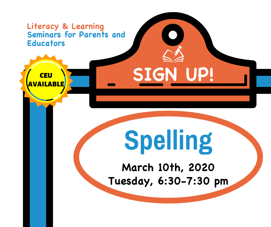 Literacy & Learning Seminars | Spelling | The Written Word