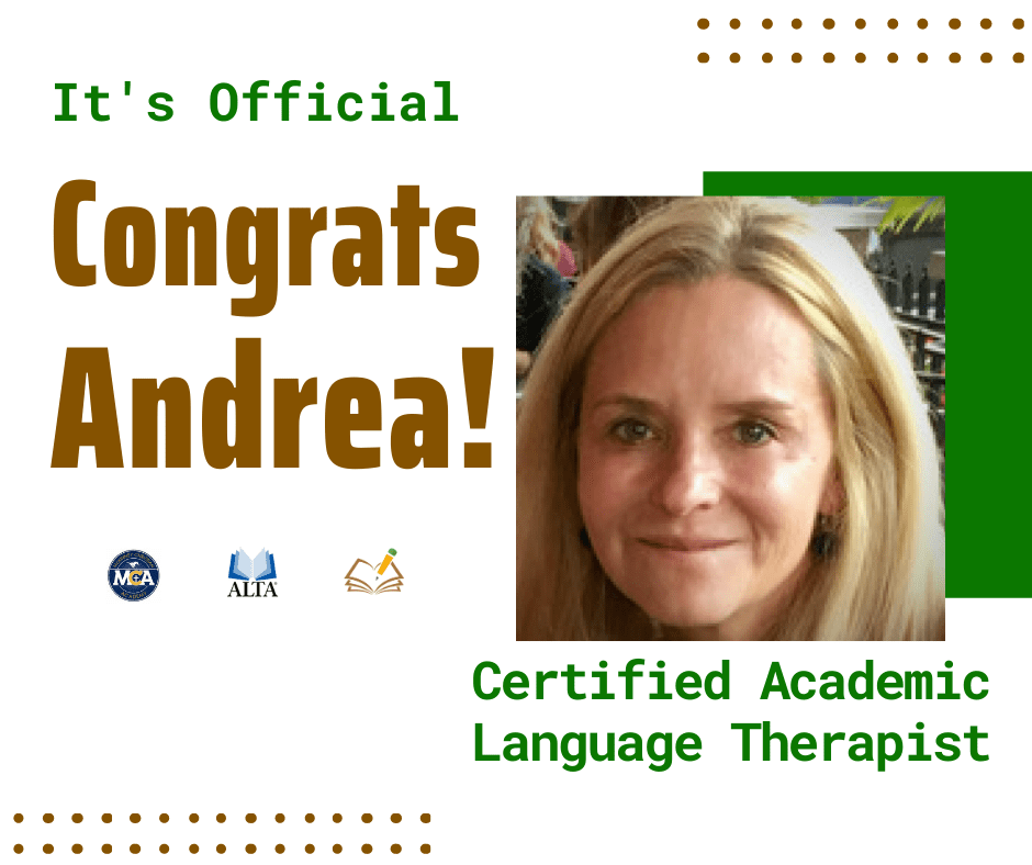Congrats Andrea | CALT | The Written Word