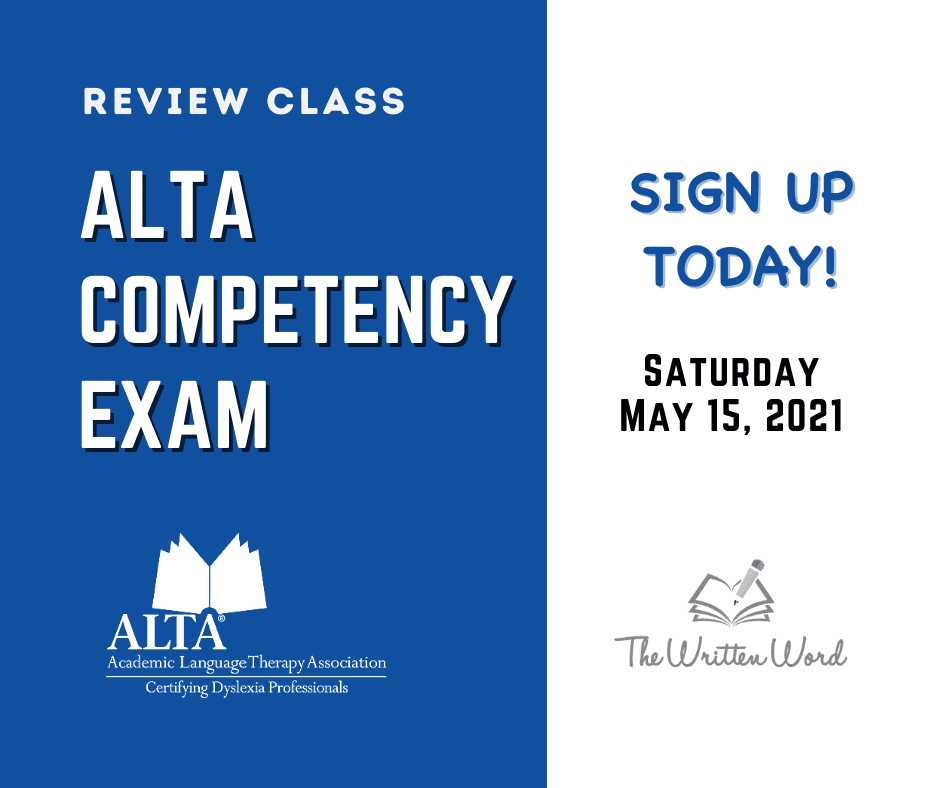 ALTA Competency Exam | The Written Word