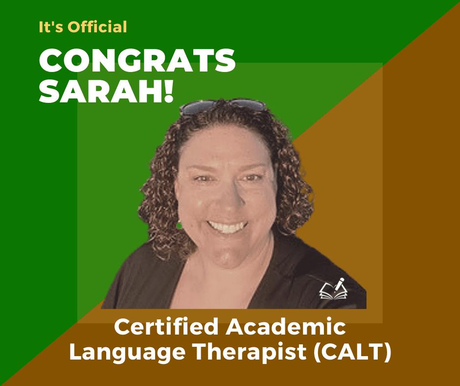 Sarah | CALT | The Written Word