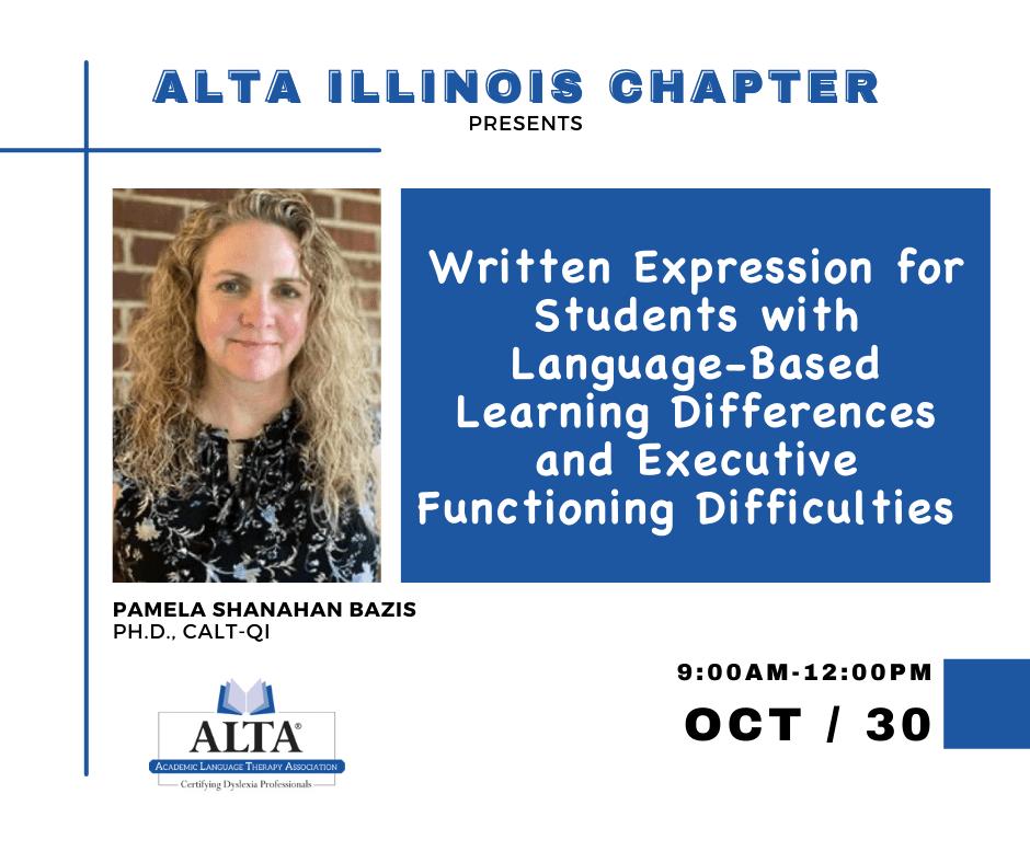 Written Expression | ALTA | Pam Bazis | The Written Wor